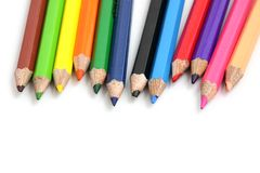 Colour pencil isolate in white background Royalty Free Stock Photo