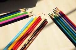 Colour pencil stock photo