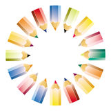 Colour pencil pattern Stock Photos