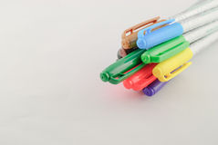 Colour pencil in row Royalty Free Stock Photography