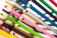 Colour pencil on white Royalty Free Stock Photo