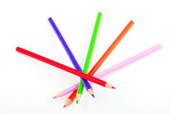 Colour pencils. On a white background Stock Photography
