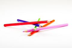 Colour pencils. On a white background Royalty Free Stock Image