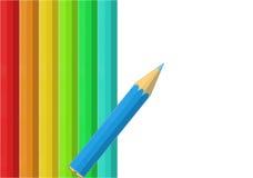 Colour pencils. We have colour pencils on a white background stock illustration