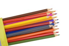 Colour pencils. Colour pencils on a white background Royalty Free Stock Images