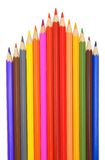Colour pencils. Colour pencils on a white background Royalty Free Stock Photo