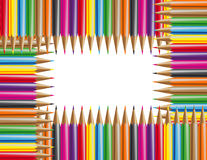 Colour pencils. Place for the text Royalty Free Stock Image