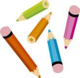 Colour pencils. Illustration of colour pencils assorted vector illustration