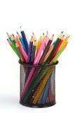 Colour pencils Stock Images