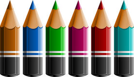 Colour Pencils. Over white. EPS 10 Stock Photography