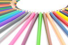 Colour pencils Stock Photos