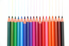 Colour pencils. On the white background royalty free illustration