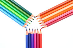 Colour pencils. On the white background vector illustration