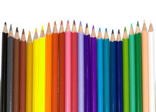 Colour pencils. Isolated on the white royalty free stock photo