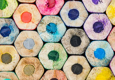 Colour pencils background - can use for background Royalty Free Stock Photography