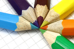 Colour pencils close-up Royalty Free Stock Image