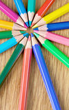Colour pencils close up Stock Image