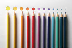 Colour pencils close up with dot Royalty Free Stock Photo