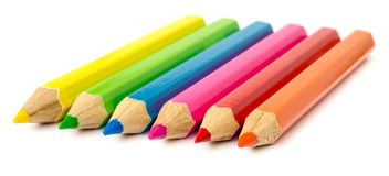 Colour pencils . Stock Images
