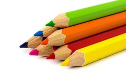Colour pencils . Royalty Free Stock Image