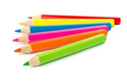 Colour pencils . Royalty Free Stock Photography