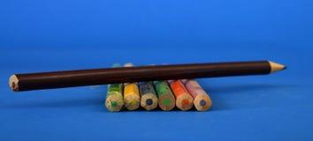 Colour pencils  close up Stock Photo