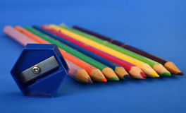 Colour pencils  close up Royalty Free Stock Photo