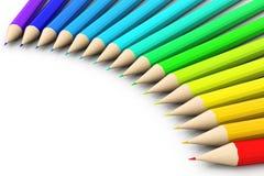 Colour pencils. 3d render of Colour pencils vector illustration