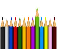 Colour pencils. 3d render of colour pencils isolated over white background Stock Image