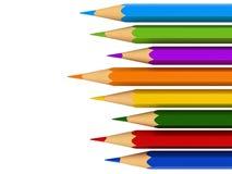 Colour pencils. 3d render of colour pencils  over white background vector illustration