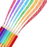 Colour pencils . EPS 10 Royalty Free Stock Photos