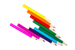 Colour pencils forming an arrow Royalty Free Stock Image