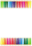 Colour pencils frame Royalty Free Stock Image