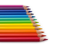 Colour pencils. Horizontal view. Royalty Free Stock Photography
