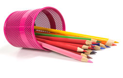 Colour pencils isolated Royalty Free Stock Photography