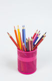 Colour pencils isolated Stock Images