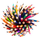 Colour pencils isolated Stock Photos