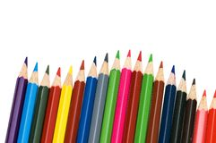 Colour pencils isolated stock image
