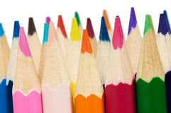Colour pencils isolated over white Royalty Free Stock Photography