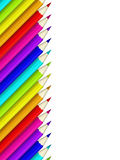 Colour pencils isolated over white Royalty Free Stock Images