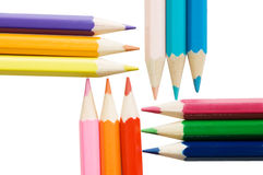 Colour pencils isolated on white Royalty Free Stock Photo