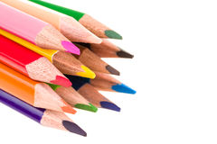 Colour pencils isolated on white Stock Images