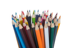 Colour pencils Stock Images