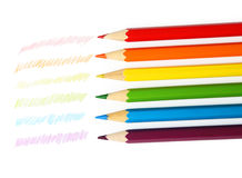 Colour pencils. Isolated on white Stock Photo