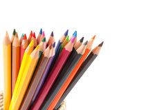 Colour pencils isolated and white background Royalty Free Stock Photo