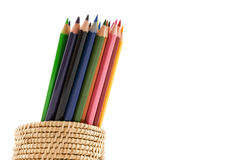 Colour pencils isolated and white background. Colour pencils isolated on white background stock images