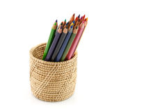 Colour pencils isolated and white background. Colour pencils isolated on white background royalty free stock photo