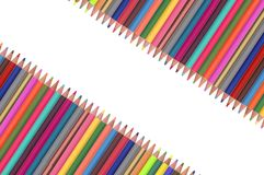 Colour pencils isolated on white Stock Photography