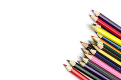 Colour pencils isolated Royalty Free Stock Photo