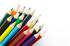 Colour pencils isolated Royalty Free Stock Images